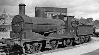 Footplate - Splashers visible on a British 0-6-0 tender locomotive (note particularly those on the second axle)