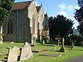 Crickhowell church - west end and churchyard - geograph.org.uk - 1385689.jpg