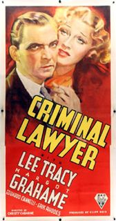 <i>Criminal Lawyer</i> (1937 film) 1937 American drama film directed by Christy Cabanne