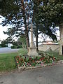 Cross in front of the cemetery of Saint-André-de-Corcy entry.JPG