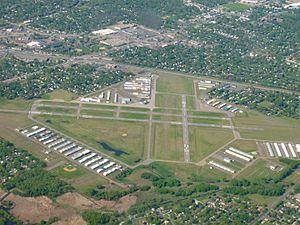 Crystal Airport (Minnesota) - Image: Crystal Airport 05042012