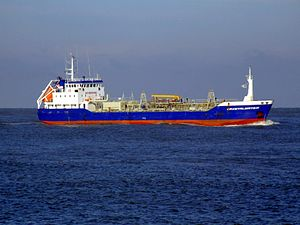 Crystalwater IMO 9148843 approaching Port of Rotterdam, Holland 25-Jan-2007.jpg