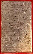 Tablette contenant des caractères cunéiformes
