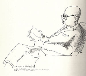 Català: Retrat de Dámaso Alonso per Josep Pla-...