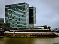 Düsseldorf, Zwillingstürme Hafenspitze Medienhafen mit Hyatt Regency Hotel (10515570473).jpg