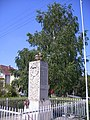 Dad, Fő utca 57. - I. és II. világháborús emlékmű, (Center Sándor, 1990). - Dad14.jpg