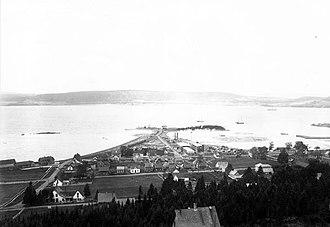 Dalhousie, New Brunswick - Looking toward Restigouche River, circa 1900.