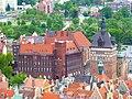 Danzig – Blick von der Marienkirche auf Folterkammer, Gefängnis und Käfigturm - Komora tortur i więzienie - panoramio.jpg
