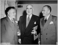David Dubinsky, Senator Herbert Lehman, and Isadore Nagler together at the 45th anniversary of the League for Industrial Democracy, at the Hotel Commodore in New York, April 15, 1950 (5279402644).jpg