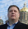 Dean Morstad in front of the Iowa State Capitol building January 2012.JPG