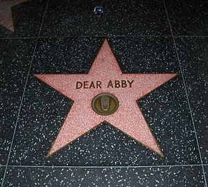 Dear Abby - Dear Abby Star on the Hollywood Walk of Fame memorializing the Dear Abby radio show