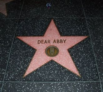Jeanne Phillips - Dear Abby star on the Hollywood Walk of Fame memorializing the Dear Abby radio show