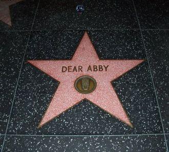 Dear Abby - Dear Abby Star on the Hollywood Walk of Fame memorializing the Dear Abby radio show