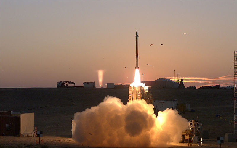 File:Dec., 2015 - David's Sling Weapons System Stunner Missile successfully completed a series of tests (1).jpg