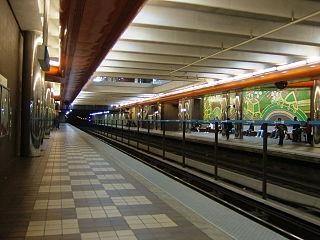 Decatur station an underground Train station of the Metropolitan Atlanta Rapid Transit Authority rail system in Decatur, DeKalb County, Georgia