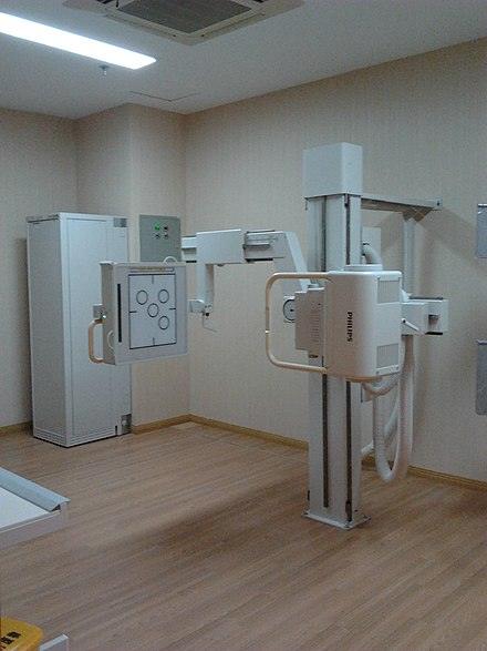 Dedicated chest radiography room Dedicated chest x-ray room.jpg