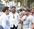Deepak Bhanushali communication with salman on set of Jai ho.jpg