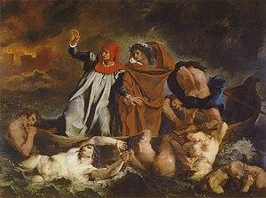 The Gulf Stream (painting) - Image: Delacroix barque of dante 1822 louvre 189cmx 246cm 950px
