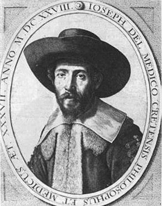"""Joseph Solomon Delmedigo - From the frontispiece to his """"Sefer Elim."""""""
