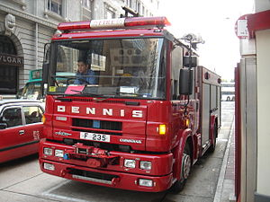 Hong Kong Fire Services Department - A Dennis Sabre vehicle.