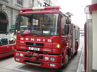 Dennis Specialist Vehicles - Dennis Sabre fire engine, Hong Kong Fire Services Department