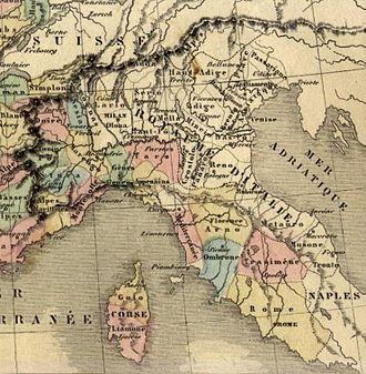 """Alto Adige - """"Department Haut-Adige"""" (1810)"""