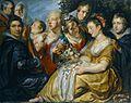 Der Künstler mit der Familie seines Schwiegervaters Adam van Noort.jpg