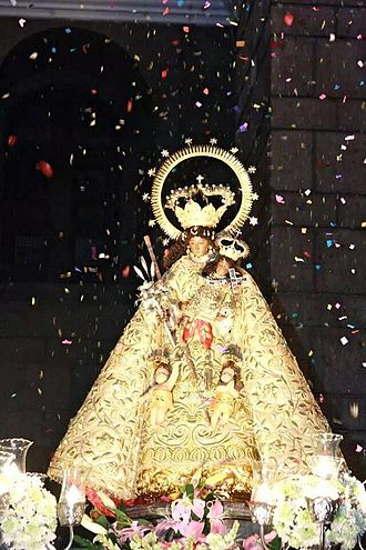 Virgen de los desamparados - 300 years old Image of Nuestra Señora de los Desamparados de Manila, Enshrined at the Iglesia de Nuestra Senora de los Desamparados in Santa Ana Manila (Philippines). This image is made in Valencia in the year 1713 and touched to the original image of Our Lady of the Abandoned enshrined in the basilica before going to the Philippines in the year 1717 (Photo by Kel Daquiaog).
