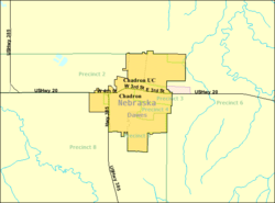 Detailed map of Chadron