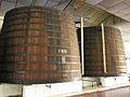 Deux gros fûts de la tour du cellier de la KWV.jpg