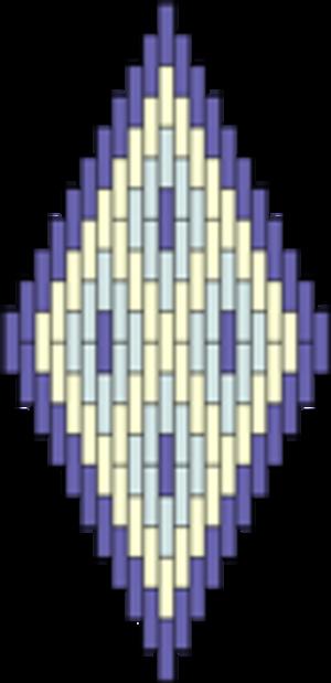Bargello (needlework) - Image: Diamond Bargello