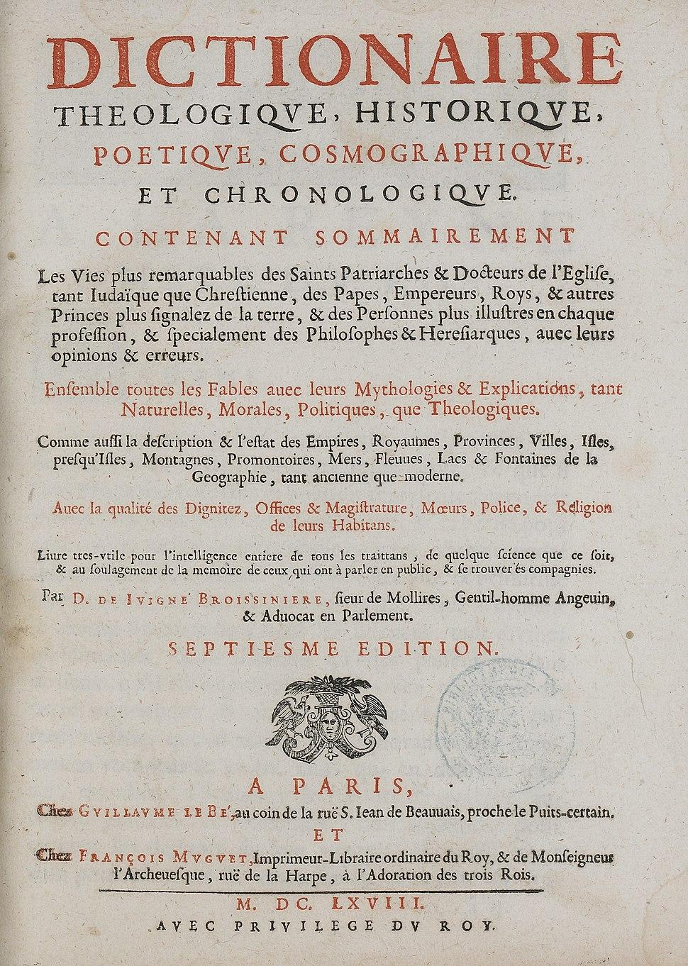 Dictionnaire de Juigné-Broissinière