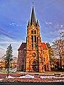 Die evangelische Christus-Kirche Nörten wurde nach den Plänen des Kirchenbaumeisters Jacob (Hannover) gebaut. Grundsteinlegung war am 14. September 1902, Einweihung am 24. September 1904. - panoramio.jpg
