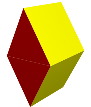 Rhombohedron - Image: Digonal orthobicupola