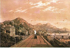 Turin–Genoa railway - Opening of the line between Principe and Sampierdarena in 1854