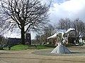 Dinosaur and Radcliffe Parish Church - geograph.org.uk - 359174.jpg