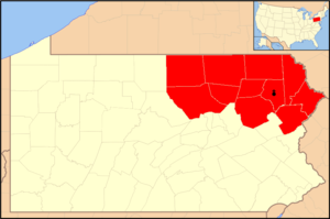 Roman Catholic Diocese of Scranton - Image: Diocese of Scranton map 1