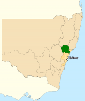 Division of Hunter - Division of Hunter in New South Wales, as of the 2016 federal election.