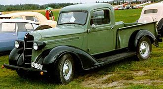 Dodge WC series - 1936 Dodge pickup showing its influence on the military models
