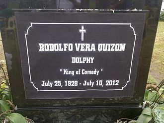 Dolphy - Dolphy's tomb held in Taguig Heritage Park.