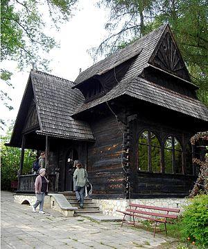 Nałęczów - Stefan Żeromski's Chata, designed in the Zakopane Style of Architecture.