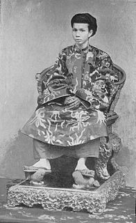 Đồng Khánh Emperor of Đại Nam under French protectorate of Annam and Tonkin