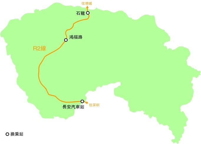 Dongguang Subway Plan Map Line R2