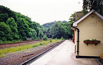 Dore and Totley railway station - Station remains in 1998