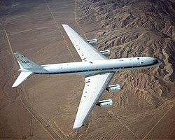 Douglas DC-8 Airborne Laboratory in flight.jpg