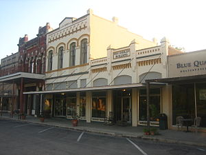 Goliad, Texas - Historic district of downtown Goliad; the Von Dohlen Building is named for an early settler.