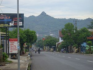 Wonogiri Regency - Downtown of Wonogiri (Gandul Hill as Background)