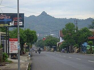 Wonogiri Regency - Downtown of Wonogiri (Gandul Hill as Background)