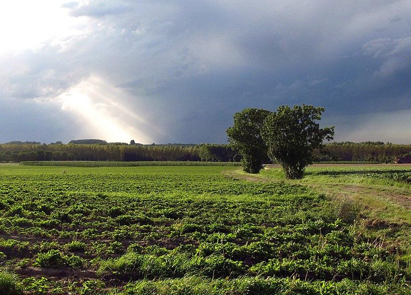 Dreigend onweer boven Rullingen