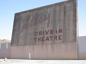 An old drive-in movie theater in California